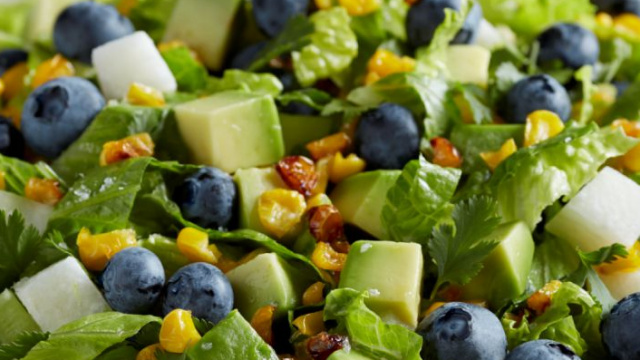 Mexican fruit salad with blue berries