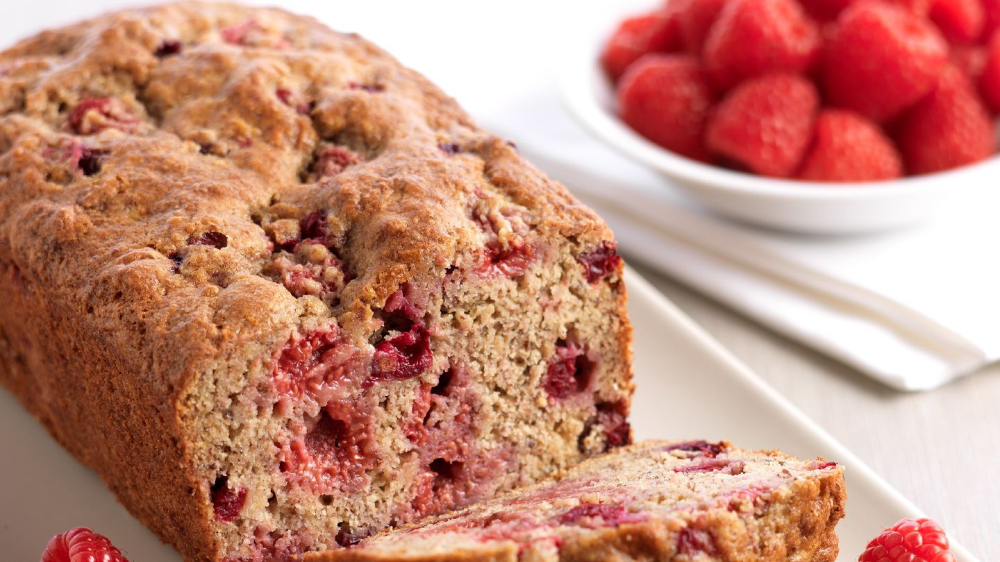 Raspberry and Blueberry Banana Bread