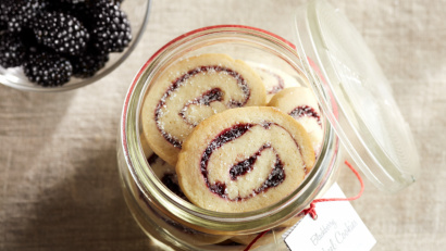 Blackberry Swirl Almond Cookies