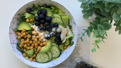 Blueberry Chickpea Salad