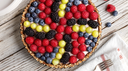 Vegan Pinwheel Berry Tart Recipe