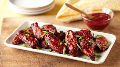 Raspberry Sweet and Spicy Chicken Wings