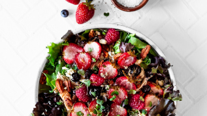Roasted Triple Berry Salad
