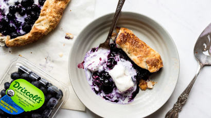 Spiced Blueberry Galette