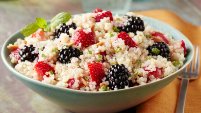 Strawberry Blackberry Quinoa with Honey Dressing