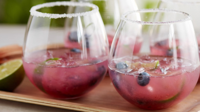 Spicy Pineapple Blueberry Margarita
