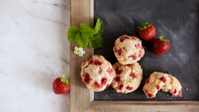 Strawberry Shortcake Tea Biscuits