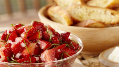 Strawberry basil salsa surprise
