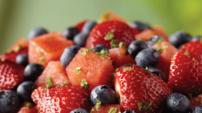Strawberry and Blueberry Watermelon Mint Salad