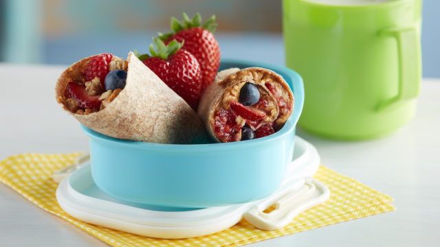 Peanut Butter and Berry Roll Ups